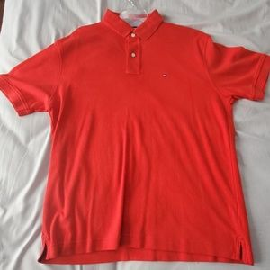 Tommy Hilfiger Red Polo Shirt